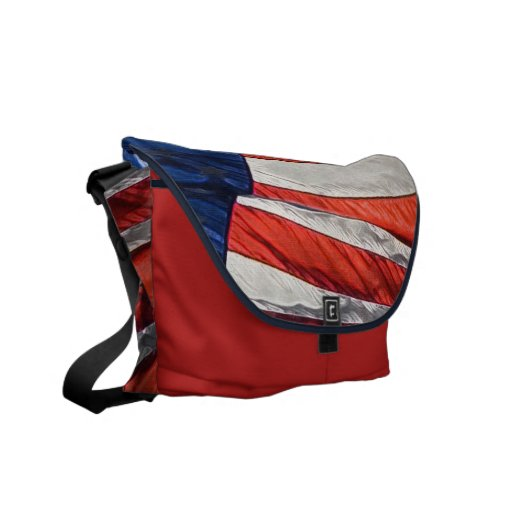 Patriotic American Flag Messenger Bag