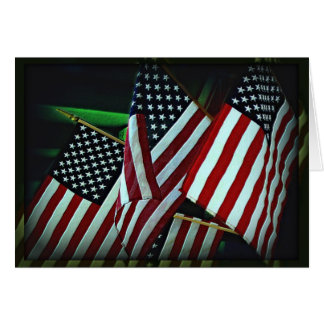 Patriotic American Flag/Military Note Card