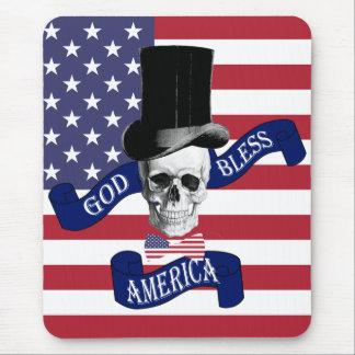 Patriotic American flag Mouse Pad