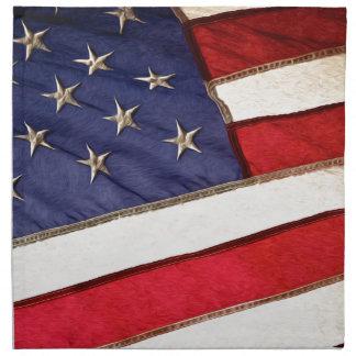 Patriotic American Flag Napkin