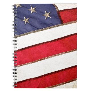 Patriotic American Flag Notebook