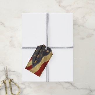 Patriotic American Flag Pack Of Gift Tags