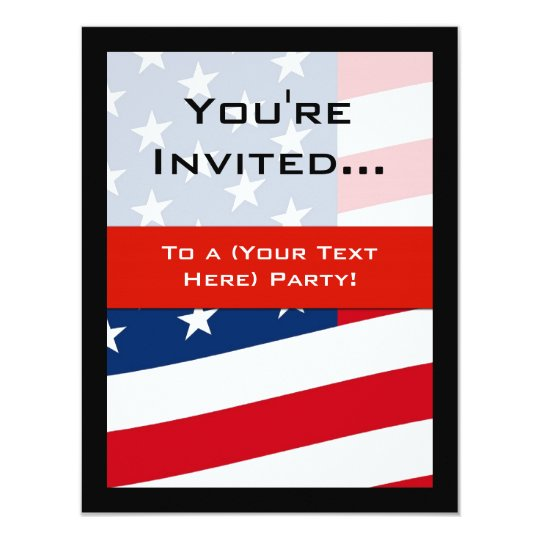 patriotic american flag party invitations general invitation