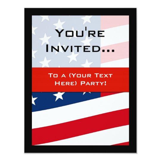 patriotic american flag party invitations general invitation