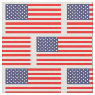 Patriotic American flag pattern DIY fabric textile