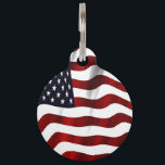 "Patriotic American Flag Pattern Pet ID Tag<br><div class=""desc"">Patriotic American Flag Pattern</div>"