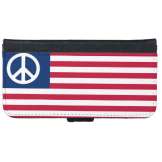 Patriotic American Flag Peace and the Flag iPhone SE/5/5s Wallet Case