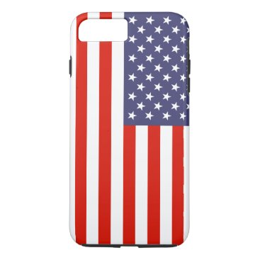 USA Themed Patriotic American flag personalizable iPhone 7 Plus Case