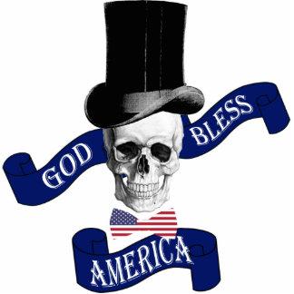 Patriotic American flag Standing Photo Sculpture