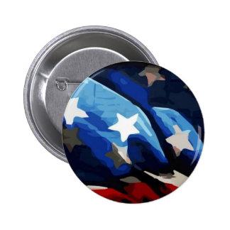 Patriotic American Flag Pin Button