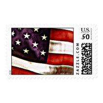 Patriotic  American Flag Postage Stamp