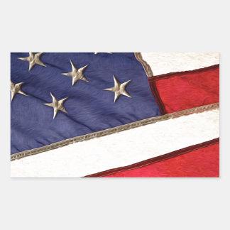 Patriotic American Flag Rectangular Sticker