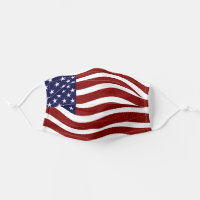 Patriotic American Flag Red White Blue USA Cloth Face Mask