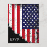 Patriotic American Flag RSVP Reply