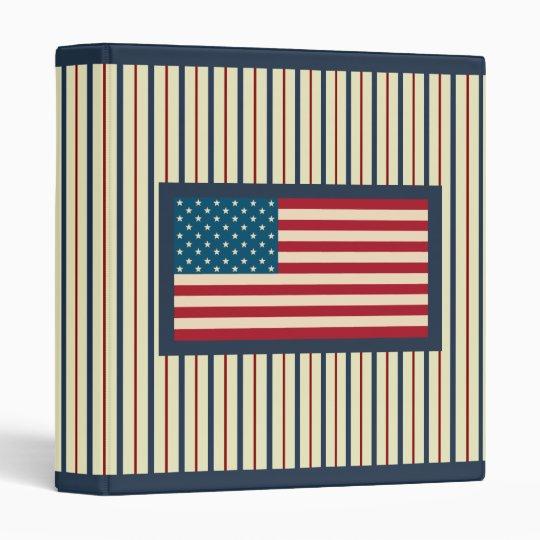 Patriotic American Flag Scrapbook Binder Gift