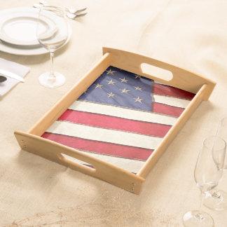 Patriotic American Flag Serving Tray