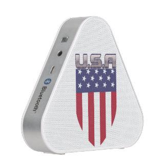 Patriotic American Flag Shield Bluetooth Speaker