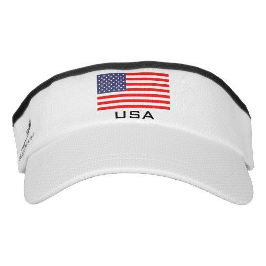 73d68e0ceeb Patriotic American flag sports sun visor cap hat