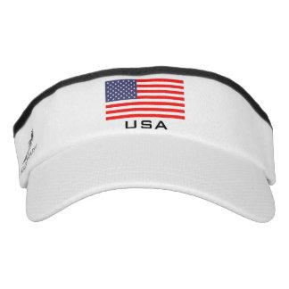 Patriotic American flag sports sun visor cap hat Headsweats Visor