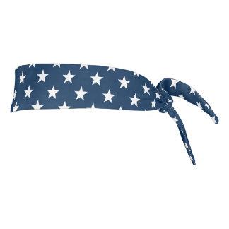 Patriotic American flag star pattern headband Tie Headband