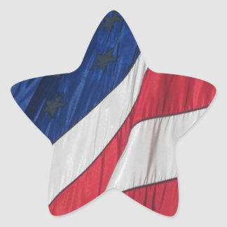 Patriotic American Flag Star Stickers
