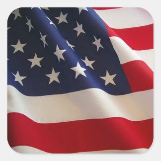 Patriotic American Flag Sticker Sticker