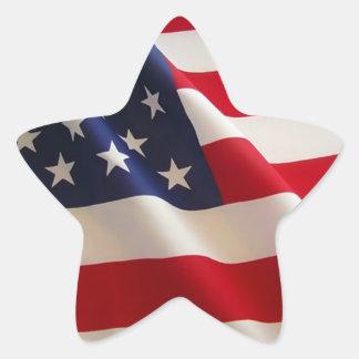Patriotic American Flag Sticker