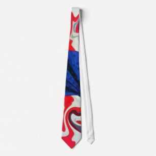5fb9a8f68951 Patriotic American Flag Swirl Tie