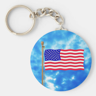 Patriotic American Flag T-Shirts and Gifts Keychain