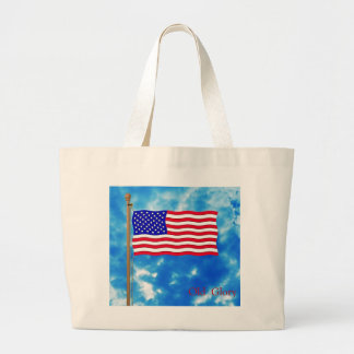 Patriotic American Flag T-Shirts and Gifts Large Tote Bag