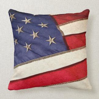 Patriotic American Flag Throw Pillow