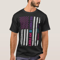 Patriotic American Flag Thyroid Cancer Awareness T-Shirt