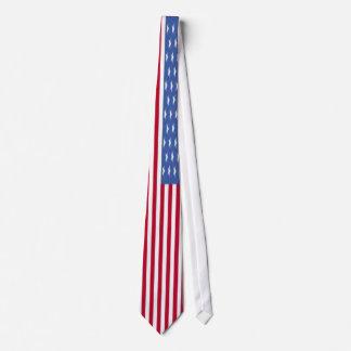 Patriotic American flag Tie. 4th of July Tie