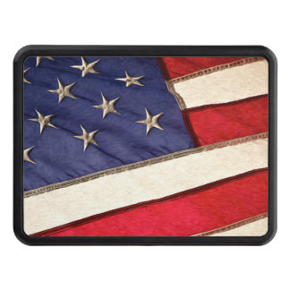 Patriotic American Flag Tow Hitch Cover