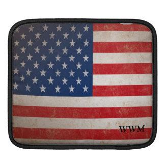Patriotic American Flag USA Vintage Style Sleeve iPad Sleeve