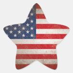 Patriotic American Flag Vintage Stars & Stripes Star Sticker