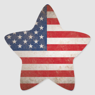 Patriotic American Flag Vintage Stars & Stripes Star Sticker