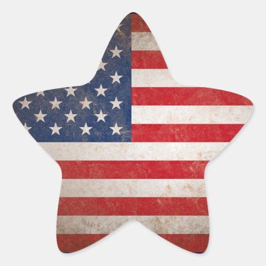 Patriotic American Flag Vintage Stars & Stripes Star