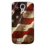 Patriotic American Flag Waving Carved in Stone Samsung Galaxy S4 Cases