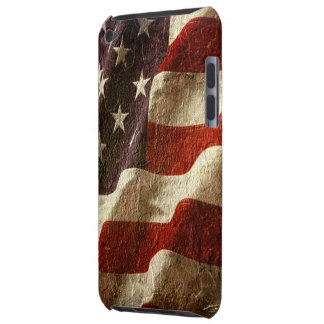 Patriotic American Flag Waving Carved in Stone Case-Mate iPod Touch Case
