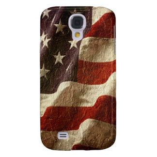 Patriotic American Flag Waving Carved in Stone Samsung S4 Case