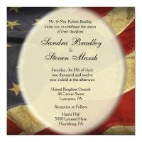 Patriotic American Flag Wedding Invitations
