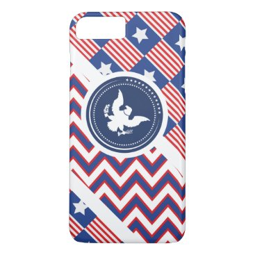 USA Themed Patriotic American Flag with Eagle iPhone 7 Plus Case