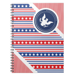 Patriotic American Flag with Eagle Notebooks