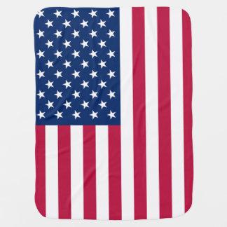 Patriotic American Flag Swaddle Blanket