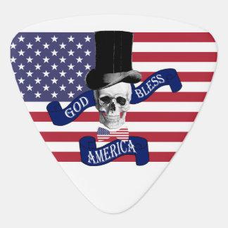 Patriotic American Guitar Pick
