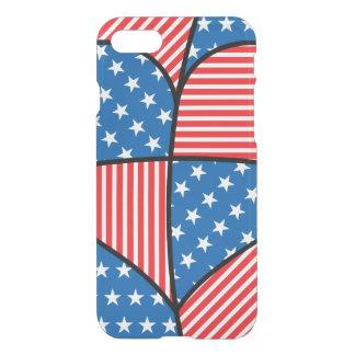 Patriotic American hearts iPhone 7 Case