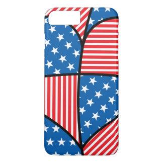 Patriotic American hearts iPhone 7 Plus Case