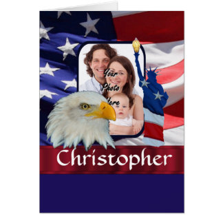 Patriotic American Icon photo template Card
