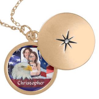 Patriotic American Icon photo template Locket Necklace